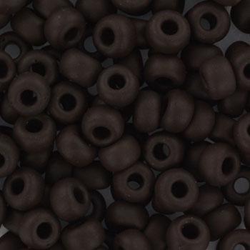 Extra foto's miyuki rocailles 6/0 - opaque matte chocolate