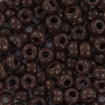 Extra foto's miyuki rocailles 6/0 - opaque chocolate