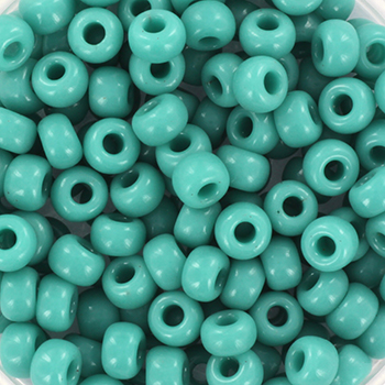 Extra foto's miyuki rocailles 6/0 - opaque turquoise green