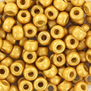 Extra pictures miyuki seed beads 6/0 - duracoat galvanized matte gold