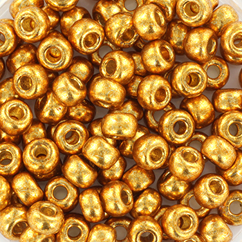 Extra pictures miyuki seed beads 6/0 - duracoat galvanized yellow gold
