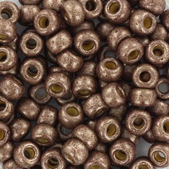 Extra foto's miyuki rocailles 6/0 - duracoat galvanized matte dark mauve