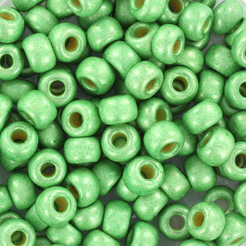 Extra foto's miyuki rocailles 6/0 - duracoat galvanized matte dark mint green