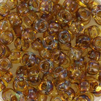 Extra foto's miyuki rocailles 6/0 - transparant picasso light topaz