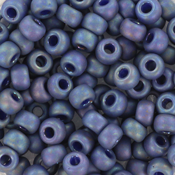 Extra foto's miyuki rocailles 6/0 - opaque glazed frosted rainbow bayberry