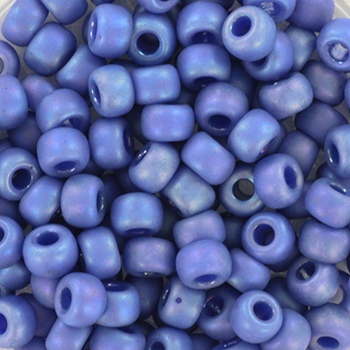 Extra pictures miyuki seed beads 6/0 - opaque glazed frosted rainbow soft blue