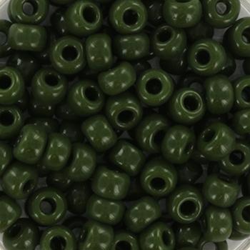 Extra foto's miyuki rocailles 6/0 - opaque avocado