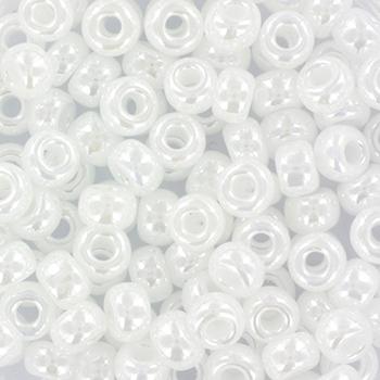 Extra foto's miyuki rocailles 6/0 - ceylon white pearl