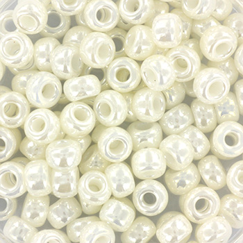 Extra foto's miyuki rocailles 6/0 - ceylon ivory pearl