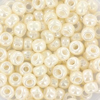 Extra foto's miyuki rocailles 6/0 - ceylon antique ivory pearl