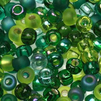 Extra foto's miyuki rocailles 6/0 - mix ever green