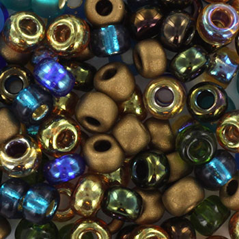 Extra pictures miyuki seed beads 6/0 - mix peacock garden
