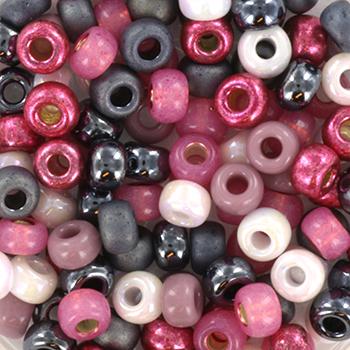Extra pictures miyuki seed beads 6/0 - metallic pink
