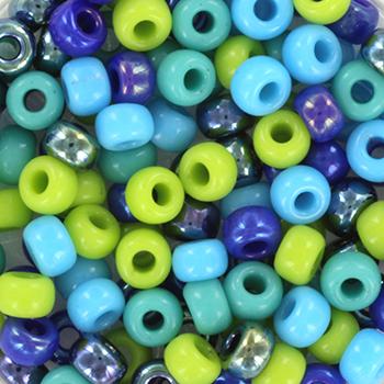 Extra foto's miyuki rocailles 6/0 - blue green