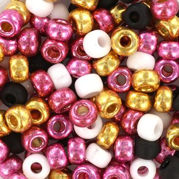 Extra foto's miyuki rocailles 6/0 - pink glitter