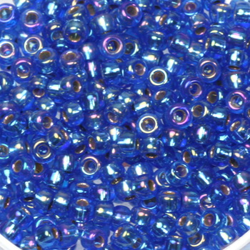 Extra pictures miyuki seed beads 8/0 - silverlined ab sapphire