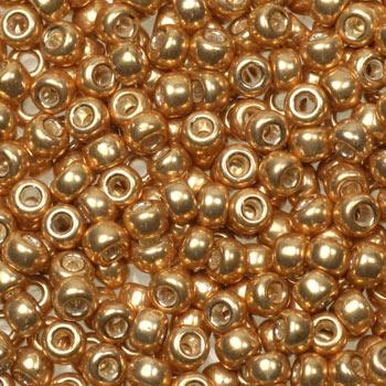 Extra foto's miyuki rocailles 8/0 - galvanized gold