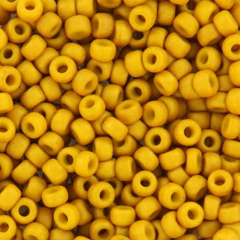 Extra pictures miyuki seed beads 8/0 - opaque matte mustard