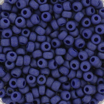Extra pictures miyuki seed beads 8/0 - opaque matte luster cobalt
