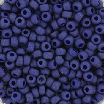 Extra foto's miyuki rocailles 8/0 - opaque matte luster cobalt