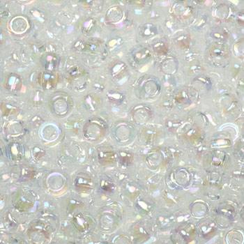 Extra foto's miyuki rocailles 8/0 - transparant ab crystal