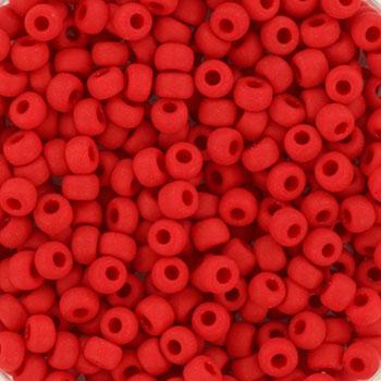 Extra foto's miyuki rocailles 8/0 - opaque matte red