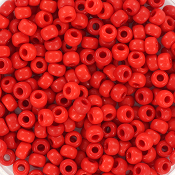 Extra pictures miyuki seed beads 8/0 - opaque red