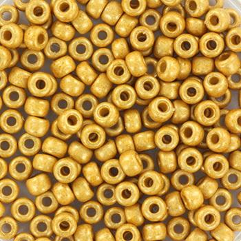 Extra foto's miyuki rocailles 8/0 - duracoat galvanized matte gold