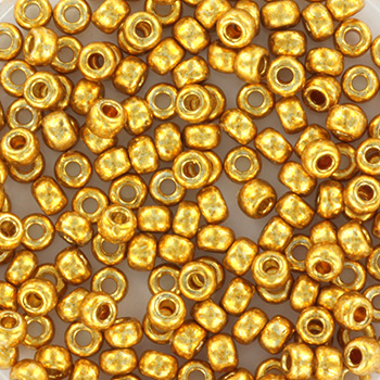 Extra pictures miyuki seed beads 8/0 - duracoat galvanized gold