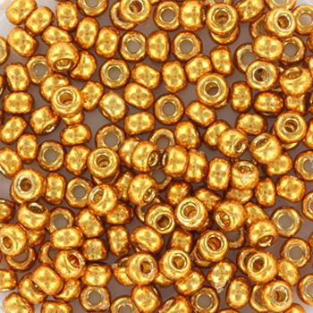 Extra foto's miyuki rocailles 8/0 - duracoat galvanized yellow gold