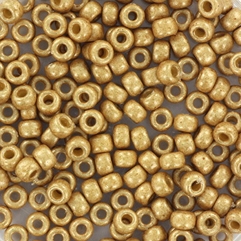 Extra foto's miyuki rocailles 8/0 - duracoat galvanized matte champagne
