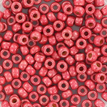 Extra foto's miyuki rocailles 8/0 - duracoat galvanized matte light cranberry