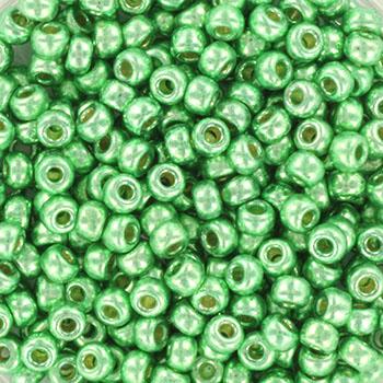 Extra foto's miyuki rocailles 8/0 - duracoat galvanized dark mint green
