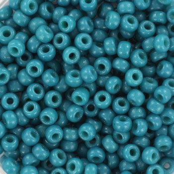 Extra pictures miyuki seed beads 8/0 - duracoat opaque azure
