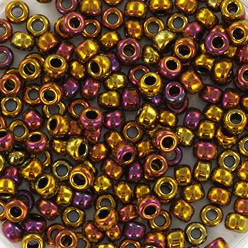 Extra foto's miyuki rocailles 8/0 - metallic gold iris