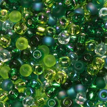 Extra foto's miyuki rocailles 8/0 - mix ever green