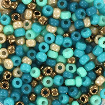 Extra pictures miyuki seed beads 8/0 - blue beach