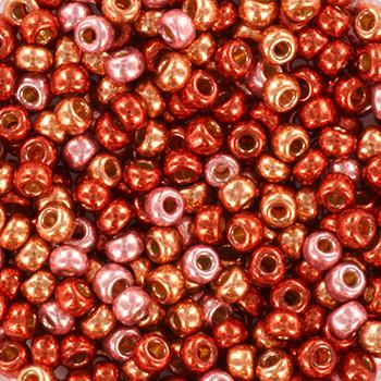 Extra foto's miyuki rocailles 8/0 - pink confetti