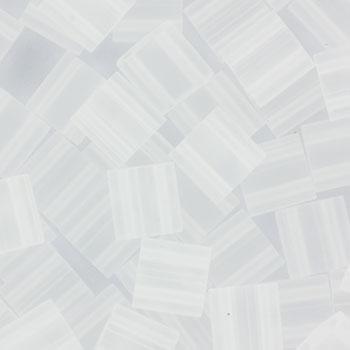 Extra foto's miyuki tila 5x5 mm - transparant frosted crystal