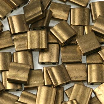 Extra foto's miyuki tila 5x5 mm - metallic matte dark bronze