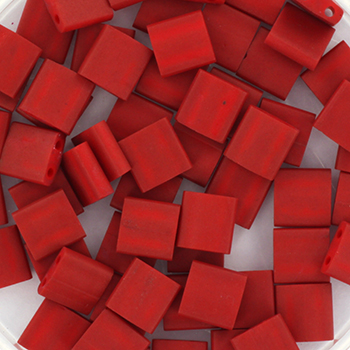 Extra foto's miyuki tila 5x5 mm - metallic matte brick red