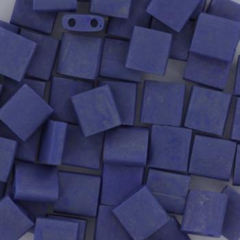 Extra foto's miyuki tila 5x5 mm - opaque matte luster cobalt