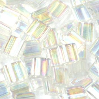 Extra foto's miyuki tila 5x5 mm - transparant ab crystal