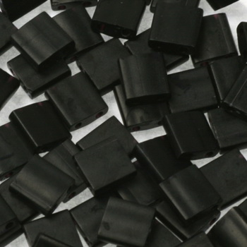 Extra foto's miyuki tila 5x5 mm - opaque matte black