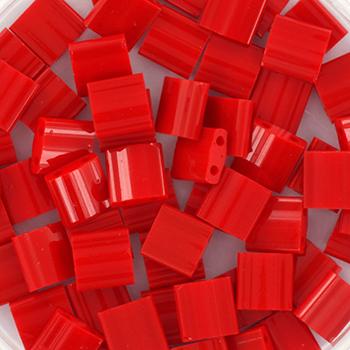 Extra foto's miyuki tila 5x5 mm - opaque red