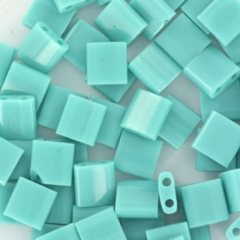 Extra pictures miyuki tila 5x5 mm - opaque turquoise green
