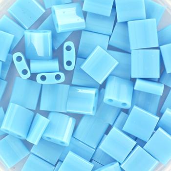 Extra foto's miyuki tila 5x5 mm - opaque turquoise blue