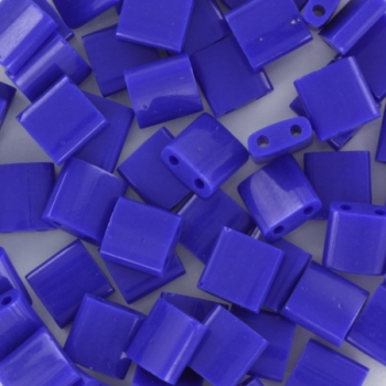 Extra foto's miyuki tila 5x5 mm - opaque cobalt