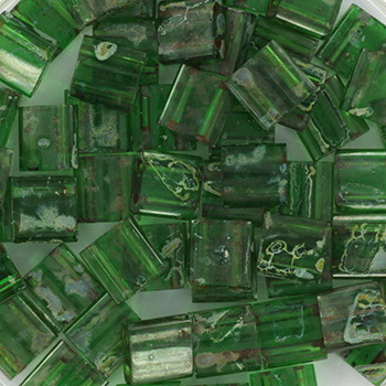Extra foto's miyuki tila 5x5 mm - transparant green picasso
