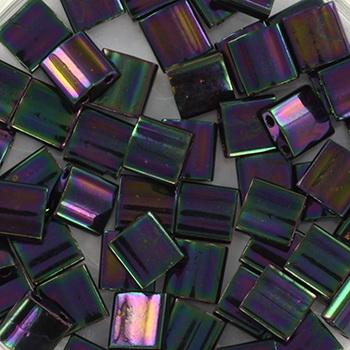 Extra foto's miyuki tila 5x5 mm - metallic iris dark plum
